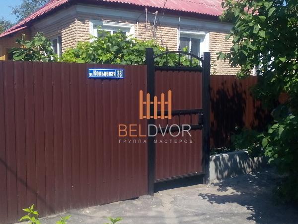 Забор из профлиста белгород цена авито рязань железный штакетник